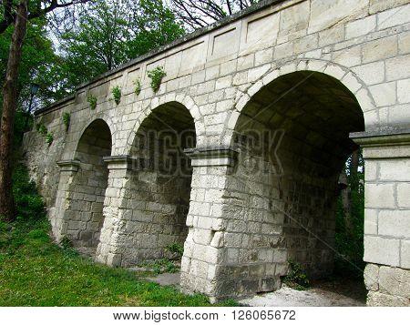 A little stone bridge in the Brunszvik estate