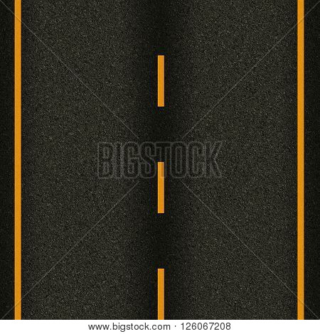 seamless texture highway asphalt road  with yellow stripes