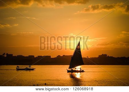 Cairo - Sunset over Nile