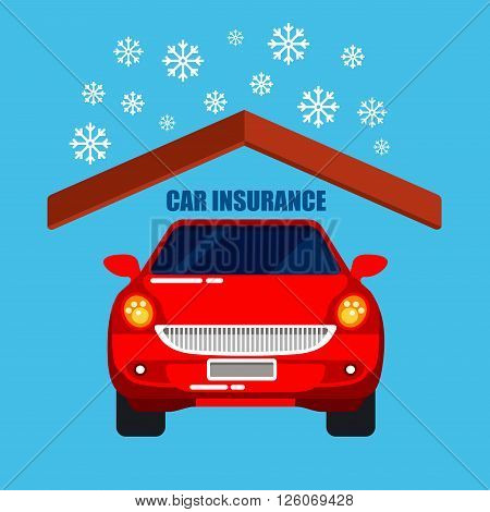 Car Insurance and Protection. Safety Life. Vector Illustration