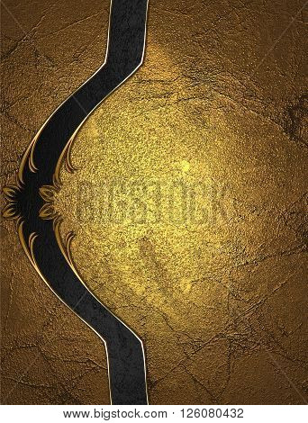 Gold Background With An Elegant Beautiful Decoration. Template For Design. Copy Space For Ad Brochur