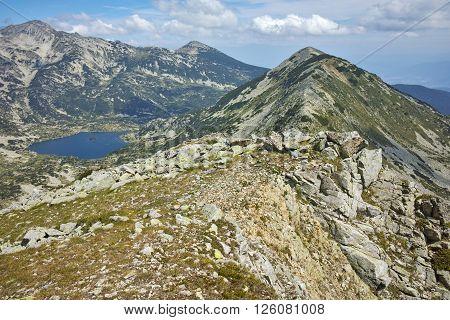 Popovo lake and Polezhan peak, view form Dzhano peak, Pirin Mountain, Bulgaria