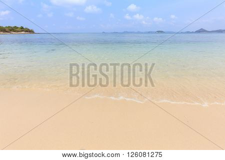 Sea Beach With Clear Water At Koh Kham Island