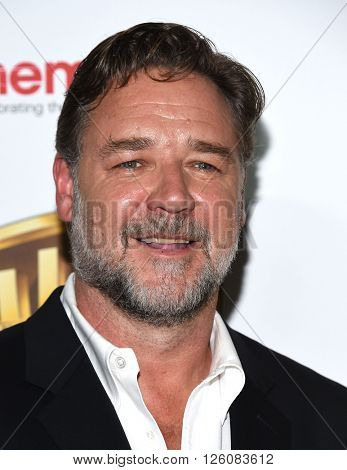 LOS ANGELES - APR 12: Russell Crowe. arrives to CinemaCon 2016: Warner Bros.