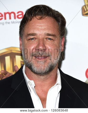 LOS ANGELES - APR 12:  Russell Crowe arrives to CinemaCon 2016: Warner Bros.