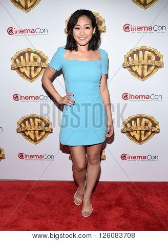 LOS ANGELES - APR 12: Karen Fukuhara. arrives to CinemaCon 2016: Warner Bros.