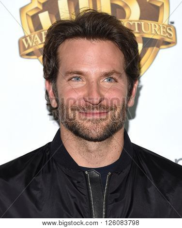 LOS ANGELES - APR 12:  Bradley Cooper arrives to the CinemaCon 2016: Warner Bros.