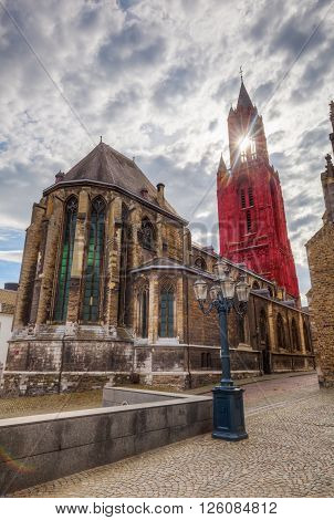 St. Johns church at Vrijthof Square in Maastricht Netherlands