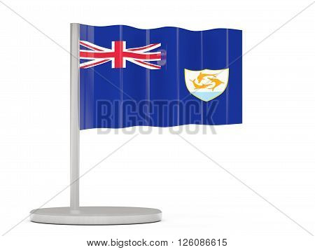 Pin With Flag Of Anguilla