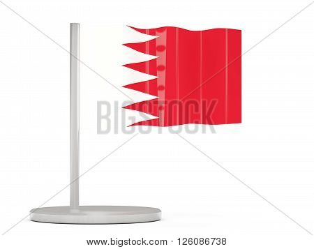 Pin With Flag Of Bahrain