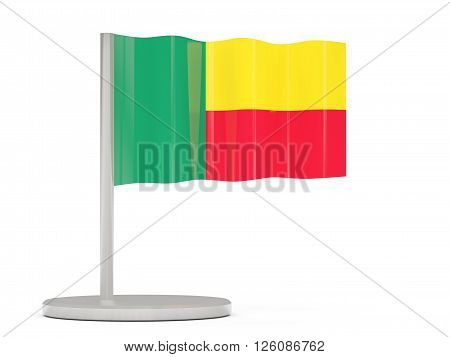 Pin With Flag Of Benin