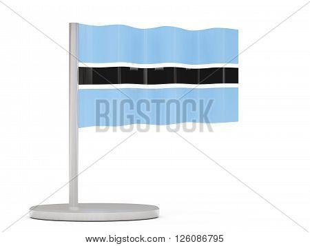 Pin With Flag Of Botswana