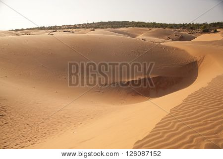 red sand dune, sand hill in Muine, Vietnam