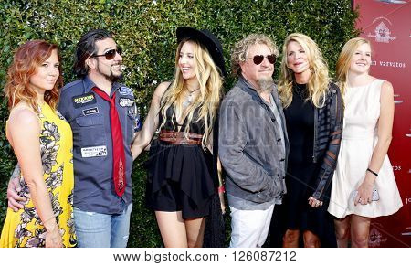 Sammy Hagar, Kari Karte-Hagar and family at the John Varvatos 13th Annual Stuart House Benefit held at the John Varvatos in West Hollywood, USA on April 17, 2016.