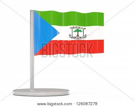 Pin With Flag Of Equatorial Guinea