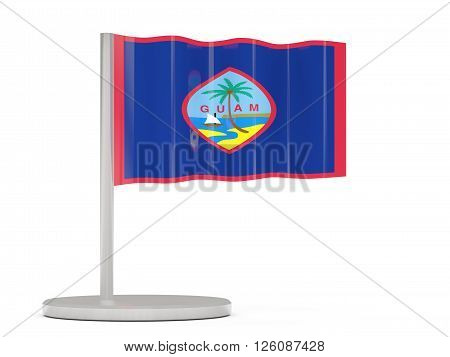 Pin With Flag Of Guam