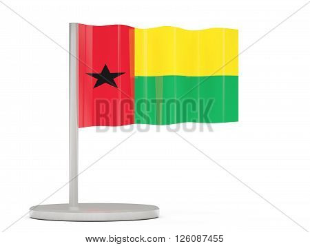 Pin With Flag Of Guinea Bissau
