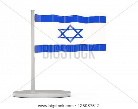 Pin With Flag Of Israel