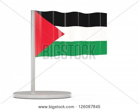 Pin With Flag Of Palestinian Territory