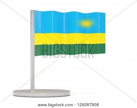 Pin With Flag Of Rwanda