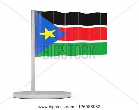 Pin With Flag Of South Sudan