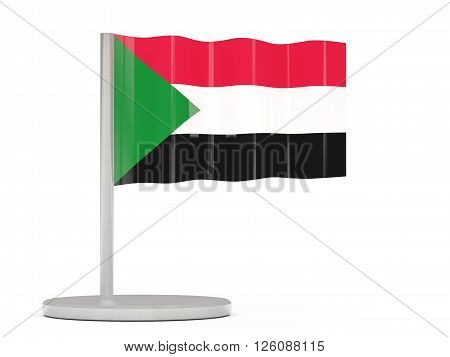 Pin With Flag Of Sudan