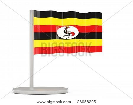 Pin With Flag Of Uganda