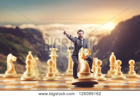 Man on the chess figure