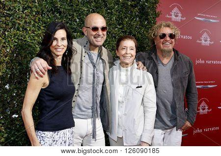 Joyce Varvatos, John Varvatos, Sammy Hagar and Gail Abarbanel at the John Varvatos 13th Annual Stuart House Benefit held at the John Varvatos in West Hollywood, USA on April 17, 2016.