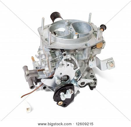 New Carburetor. Isolated On White