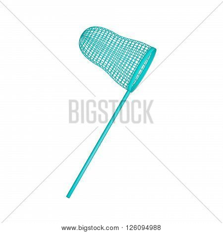 Net in turquoise design on white background