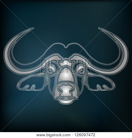 Silver bull zodiac Taurus sign for astrological predestination and horoscope