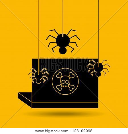 software infections design, vector illustration eps10 graphic