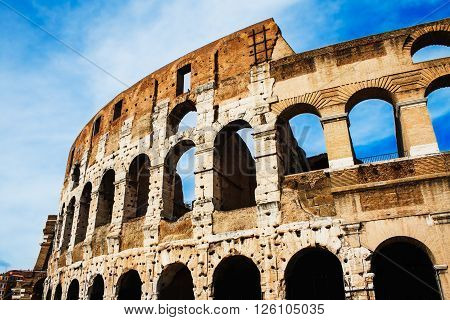 The Coliseum in Rome, Italy - symbol of an ancient glory.