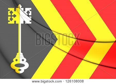 Flag Of Bladel (north Brabant), Netherlands.