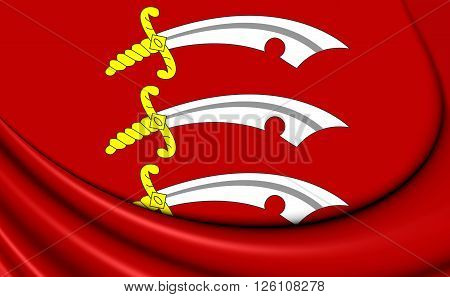 Flag Of Essex, England.