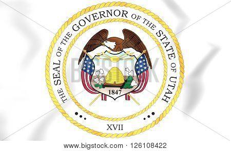 Governor Of Utah Seal, Usa.