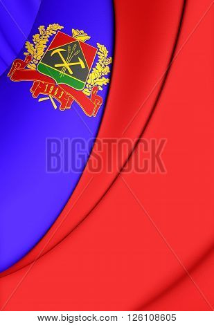 Flag Of Kemerovo Oblast, Russia.