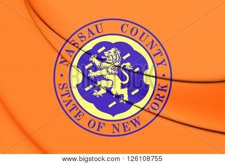 Flag Of Nassau County (new York), Usa.