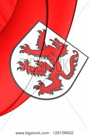 Flag Of Passau City (bavaria), Germany.