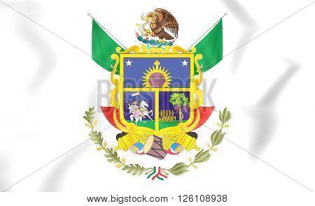 Flag Of Queretaro, Mexico.
