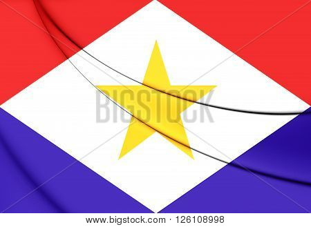 Flag Of Saba, Netherlands.