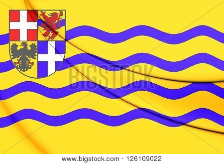Flag Of Salland, Netherlands.