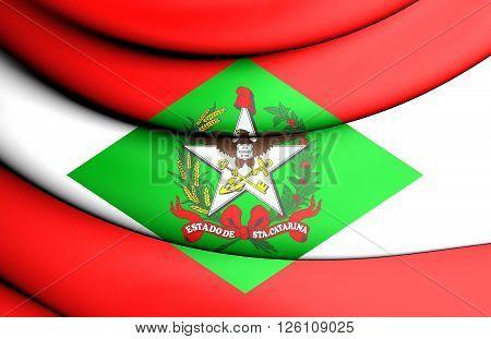 Flag Of Santa Catarina, Brazil.