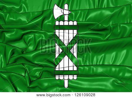 Flag Of St. Gallen Canton, Switzerland.