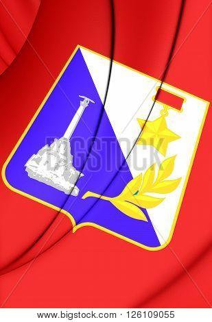 Flag Of Sevastopol (crimea), Russia.