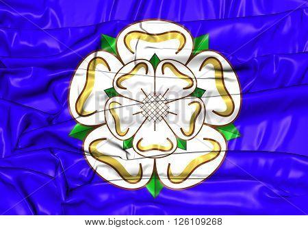 Flag Of Yorkshire, England.