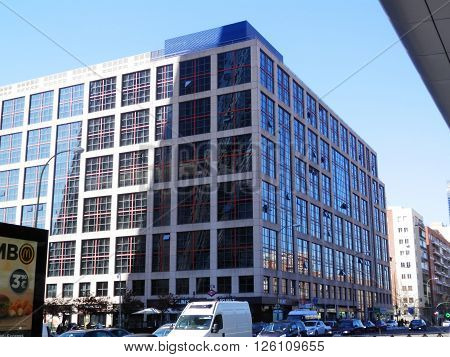 Madrid Spain April 7th 2016. Business Building in madrid city in spain. Madrid Spain April 7th 2016.