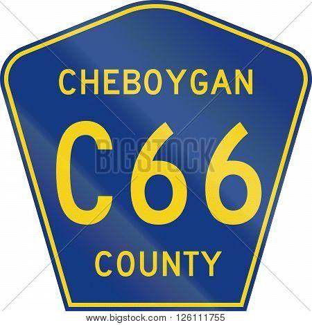 Michigan County-designated Highway Shield - Cheboygan County