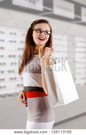 The Woman At The Glasses Shop